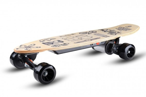 Skatey 150 Lithium Wood-art Electrisch Skateboard Junior 80 Cm