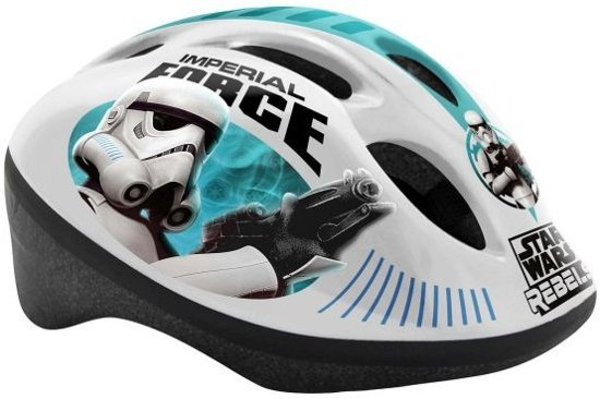 kinderhelm Star Wars wit/turuoise maat 50/56