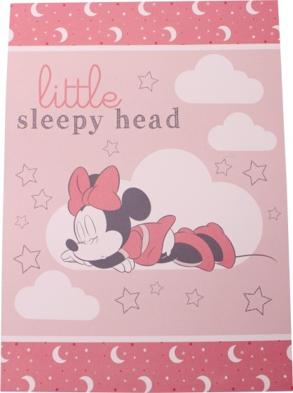 Disney fleecedeken Minnie Mouse 100 x 140 cm roze - Bedtextiel - Dekens,